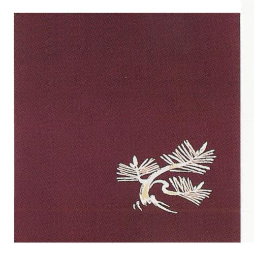 正絹縮緬吉祥ふろしき 三巾 根引松(引染)