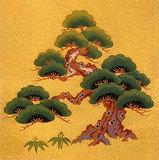 加茂川綴 笹に松(No,907)