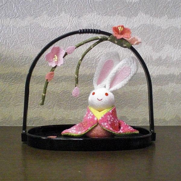 かご付兎:桜
