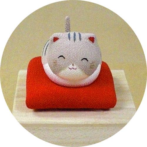 桐箱ゆらゆらソーラーミニ猫 グレー