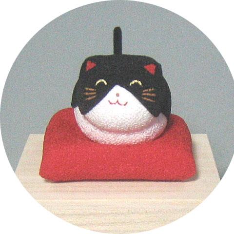 桐箱ゆらゆらソーラーミニ猫 黒猫