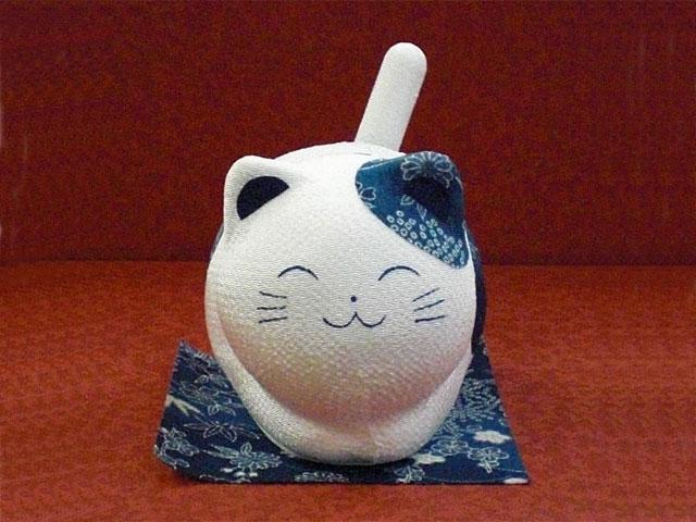 ゆらゆらソーラーミニ猫 藍猫