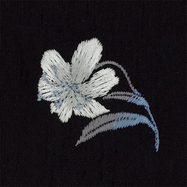 紬刺繍 金封ふくさ 黒(百合)