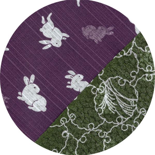 うさぎ(紫)/雪輪(緑)