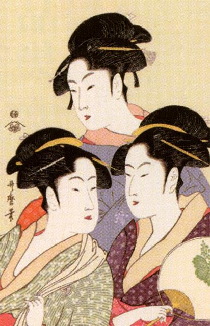 喜多川歌麿 寛政の三美人