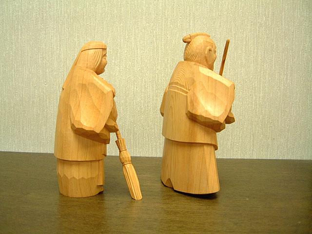 高砂人形 一位一刀彫 六寸 法之作