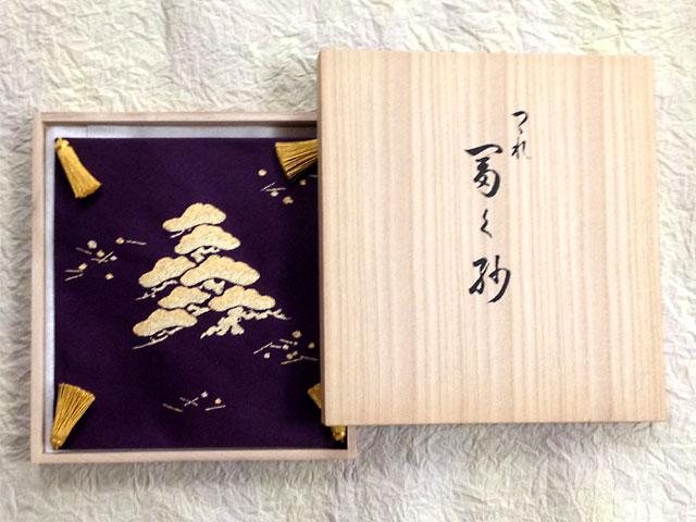 正絹本綴式 袱紗 5号 松・二羽鶴