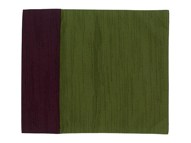 ポリエステル紬 リバーシブル金封ふくさ:紫・グリーン