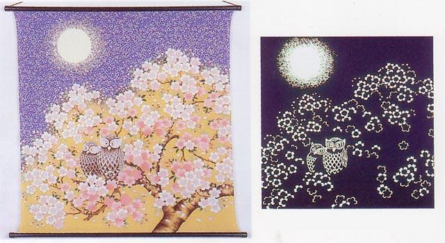 春(桜にふくろう)