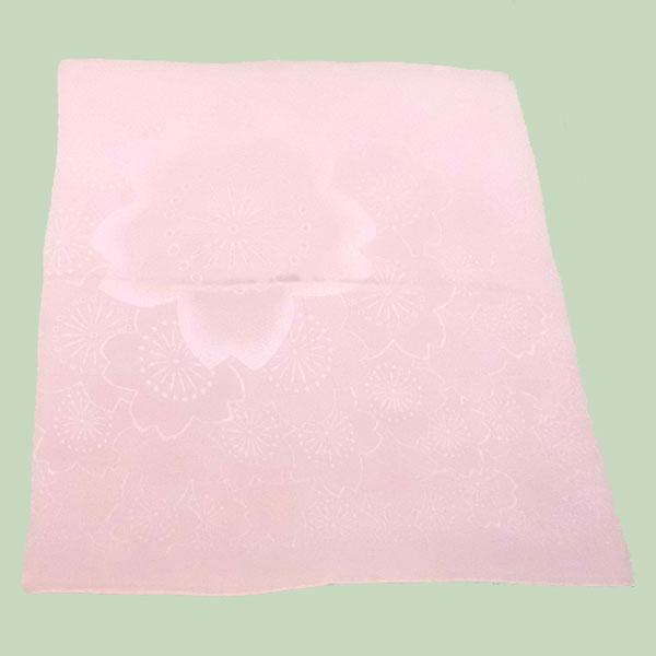 正絹縮緬手わざふろしき 正二巾 桜